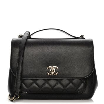 CHANEL Caviar Quilted Large Business Affinity Flap Black