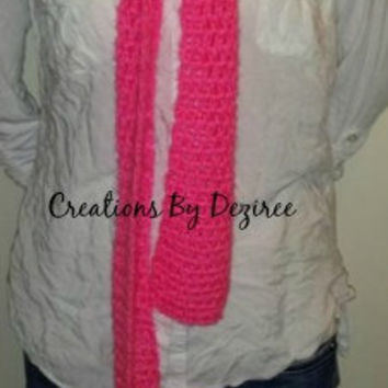 Pink Extra Long Double Crochet Scarf!