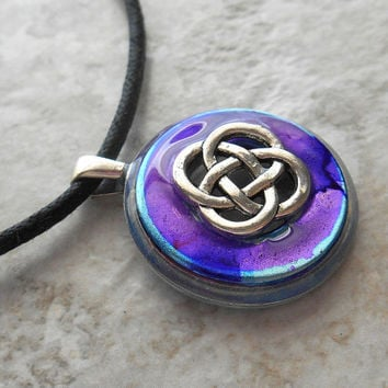 celtic knot necklace: purple - womens jewelry - womens necklace - celtic jewelry - mothers day - irish jewelry - unique gift - endless knot
