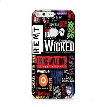 Broadway Musical Collage Poster Google Pixel 2 case