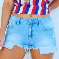 Peace, Love, & USA Shorts: Denim
