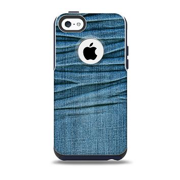 The Wrinkled Jean texture Skin for the iPhone 5c OtterBox Commuter Case