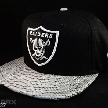 Oakland Raiders New Era 2016 NFL Python Snakeskin hat cap snapback adjustable