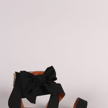 Bamboo Strappy Bow Sandal