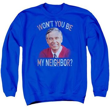Unisex Mister Rogers Won't You Crew Neck Sweatshirt