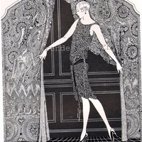 Flapper Girl Phoenix Hosiery 1920s Vintage by SurrenderDorothy