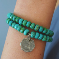 Turquoise Stacking Bracelet Set