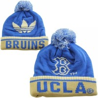 adidas UCLA Bruins Cuffed Knit Hat with Pom - True Blue/Gold