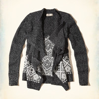 Patterned Blanket Cardigan