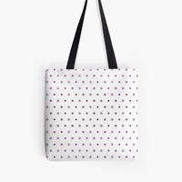 'Knot Star Pattern Plum' Tote Bag by craftymummy