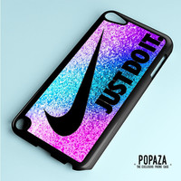 Nike Just Do It Pink Blue Purple Glitter iPod Touch 5 Case