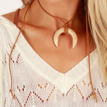 Native Vibes Choker Tan