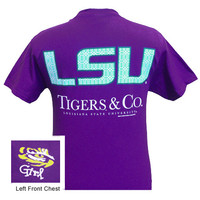 Louisiana State LSU Tigers and Co Delta Girlie Bright T Shirt