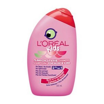 Buy L'Oreal Paris Kids Soothie Smoothie 2-In-1 Shampoo Strawberry 265 mL Online in Canada | Free Shipping