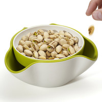 The Green Head - Double Dish Snack Bowl