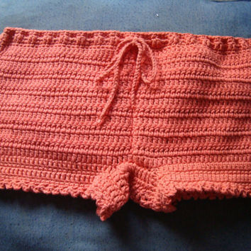 Crochet Shorts in Tangerine - Women Boy Shorts - Fashion Color 2013 - Fashion Trend - Spring - Summer - Easter