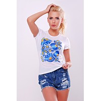 "Women's t-shirt ""Blue Petrykivka"""