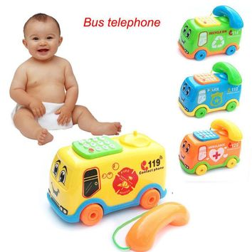 Baby Toys Music Cartoon Bus Phone Educational Developmental Kids Toy Gift New Model toy vehicle car toys for children kids