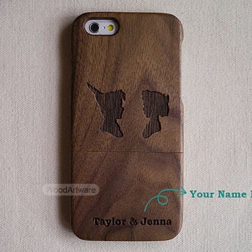 Wood iPhone 6 case, iPhone 5C case, Wood iPhone 5 case, Custom iPhone 5S case, iPhone 4 case, Wood iPhone case, Peter pan and wendy - B11