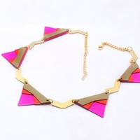 Lacquered Triangle Necklace