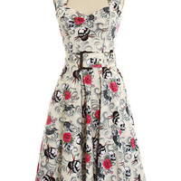 Geisha's Revenge Retro Halter Dress