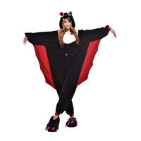Unisex Adult Pajamas Cosplay Costume Animal Onesuit Sleepwear Suit    Bat
