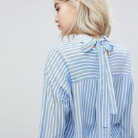 Only Striped Oversize Shirt at asos.com