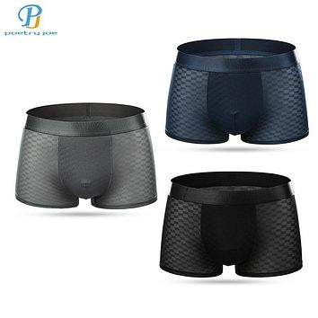 3pcs/lot Chenke Men Underwear Boxers Sexy Breathable Spandex Men Boxer Underwear Cheap Low Angle Underwear Shorts Boxers