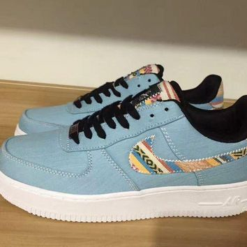 Nike Air Force 1 LV8 Blue For Women Men Running Sport Casual Shoes Sneakers