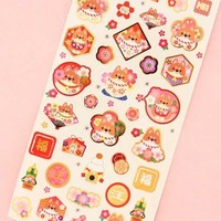 Japanese Traditional Dog Stickers - Fortune