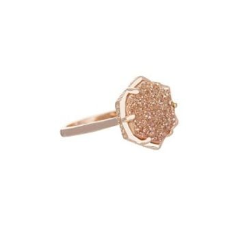 Kylie Ring in Champagne Drusy - Kendra Scott Jewelry