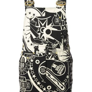 Moschino Jeans Vintage 1980S Printed Dungarees Dress