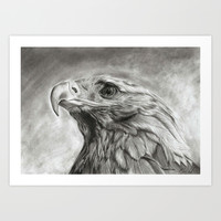 Eagle pencil drawing Art Print by Andulino