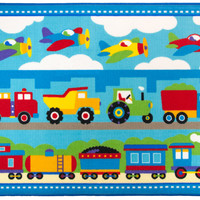 Olive Kids Trains, Planes, Trucks 5x7 Rug - 615410