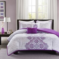 Intelligent Design Avani Purple Comforter Set ID10-252/ID10-252