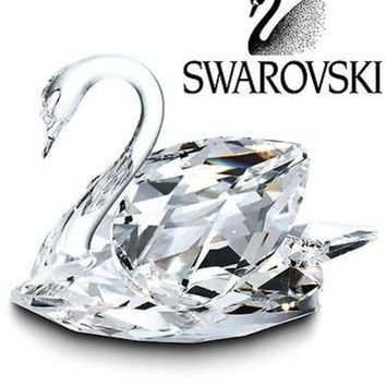 Swarovski Crystal Figurine Medium Swan Retired