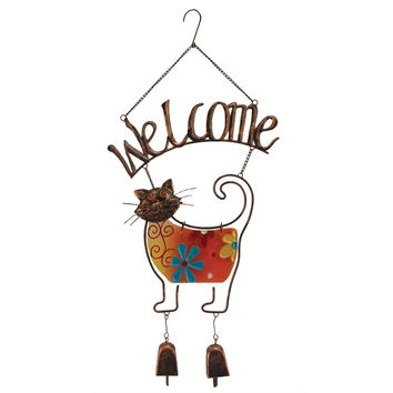 Welcome Cat Wind Chime