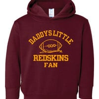 Adorable Printed Toddler Hoodie Daddys Little Redskins Fan Toddler Thru Youth Personalization Available Chicago Bears Fans Hoodie