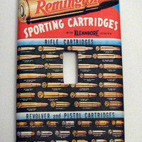 Light Switch Cover - Light Switch Plate Remington Arms Hunting CArtridges