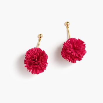 Gathered carnation earrings