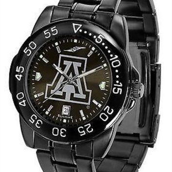 Arizona Wildcats Mens Watch Fantom Gunmetal Finish Black Dial