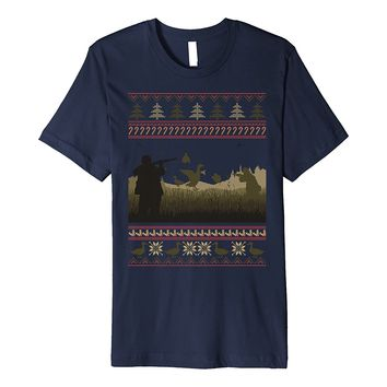 Duck Hunting Ugly Christmas Sweater Premium T-Shirt