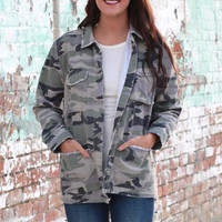 Military Commander Light Jacket {Camo}