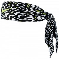 Nike Holiday Dri Fit Print Head Tie Black/Volt