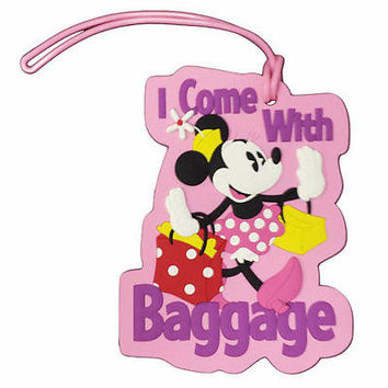 disney parks minnie i come with my baggage luggage bag tag new with tag