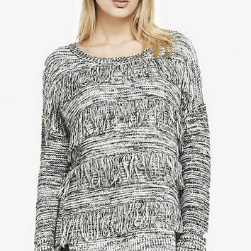 FRINGE FRONT TUNIC SWEATER from EXPRESS
