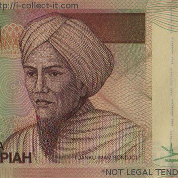 Indonesian 5,000 X 10 banknotes = 50,000 Rupiah, IDR