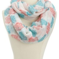 Tribal Print Infinity Scarf by Charlotte Russe - Pink Combo