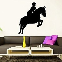 Wall Decal Vinyl Sticker Decals Art Decor Design Bedroom Horse Animal Rider Beautiful Kids Bedroom Dorm Home (r1419)