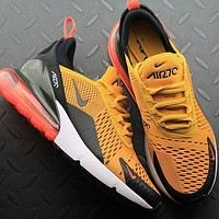 Nike Air Max 270 AH8050 004 University Gold Hot Punch Sport Running Shoes